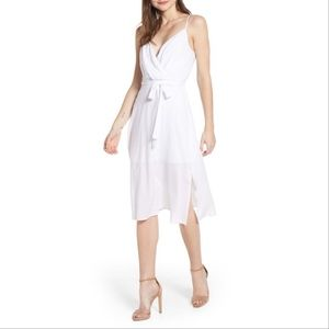 New ROW A Surplice Midi White Dress S